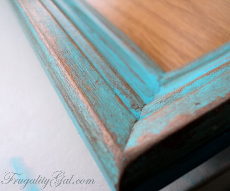 DIY Distressed Frame Tutorial