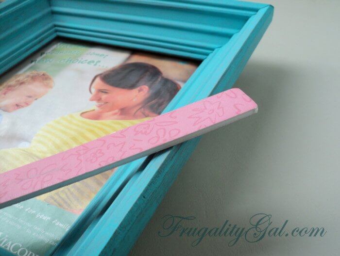 "DIY Distressed Frame Tutorial using ""tools"" that we all have at home. If you have a sock, a nail file and a paint brush you can easily tackle this project!"