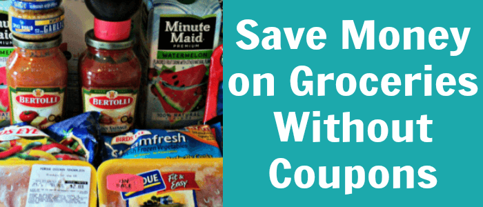 Save on Groceries without Coupons. When my first baby was born, we made a frugal living plan for me to stay home for a year. We downsized our apartment, created a budget, and cut back on extra spending. One of the easiest places for us to cutback and save extra money is in our grocery budget.