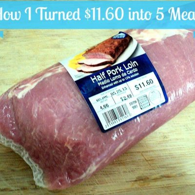 How I Turned $11.60 into 5 Meals
