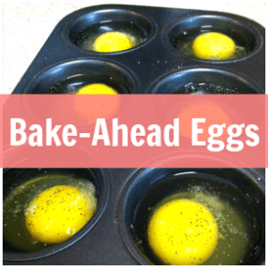 Bake eggs in muffin tin