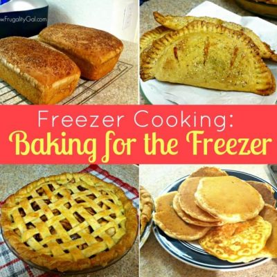 Freezer Cooking Day: Baking for the Freezer