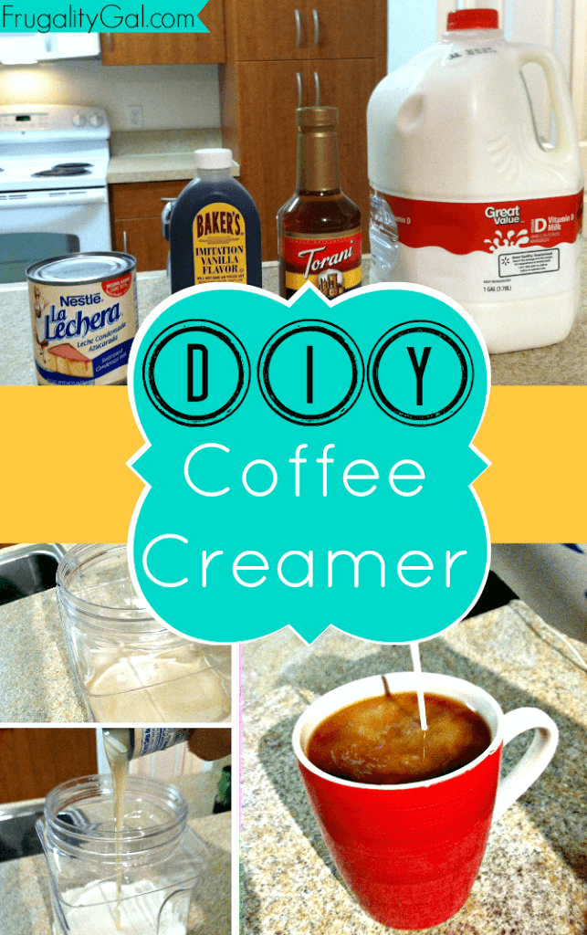 Make your own homemade coffee creamer in under 2 minutes. Easy to make and customize