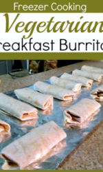 freezer meals - vegetarian breakfast burritos