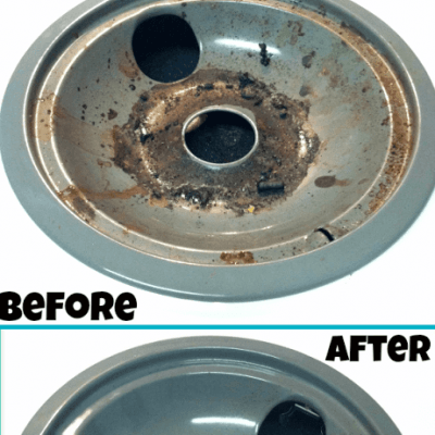 How to Easily Clean Stove Drip & Burner Pans Naturally
