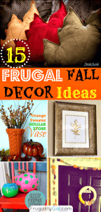Awesome frugal ideas for decorating your home this fall season. www.savorandsavvy.com