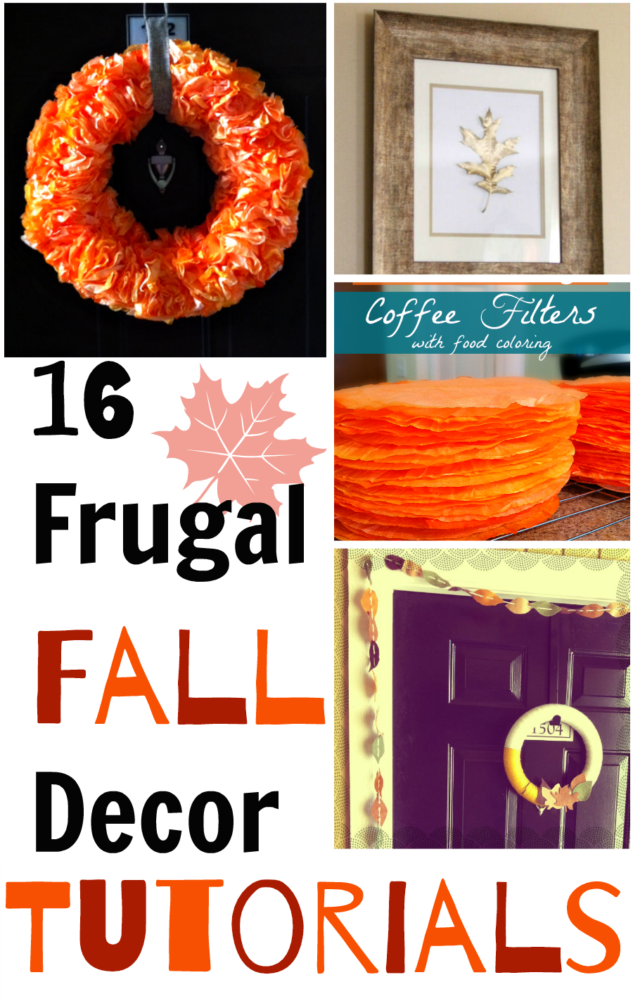 16 frugal fall decor ideas and tutorials