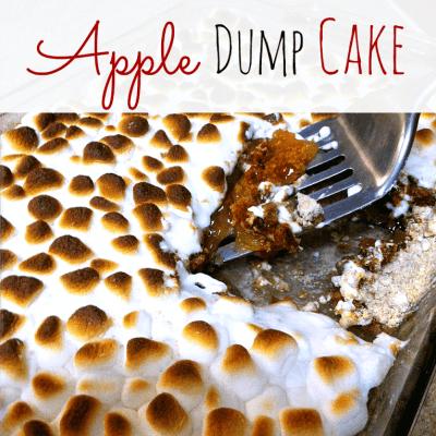 Marshmallow Apple Pie Spice Dump Cake