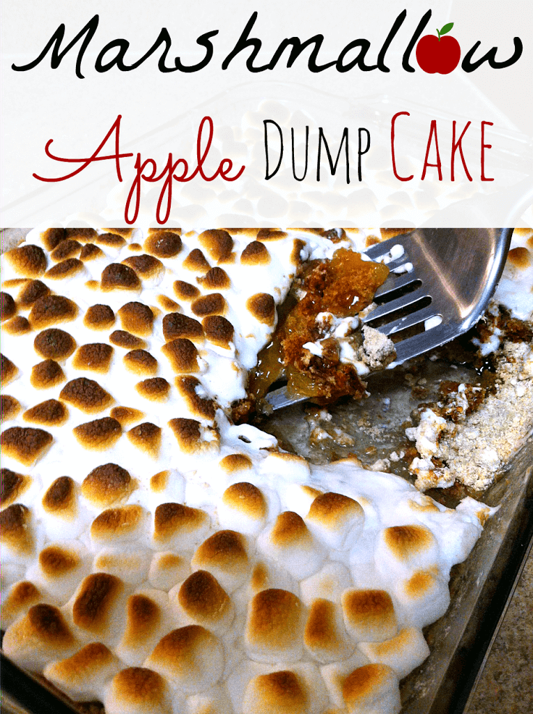 4 Ingredient Marshmallow Apple Pie Spice Dump Cake. Takes the idea of a dump cake to a completely new level.