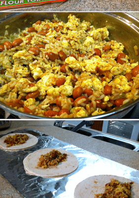 Vegetarian Breakfast Burritos for the Freezer