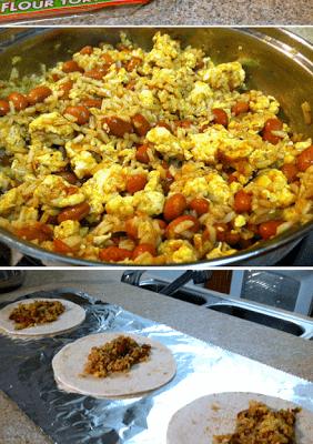 Vegetarian Breakfast Burritos for the Freezer