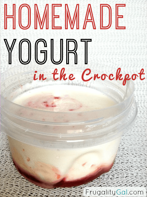 Frugal Experiment: Homemade Crockpot Yogurt