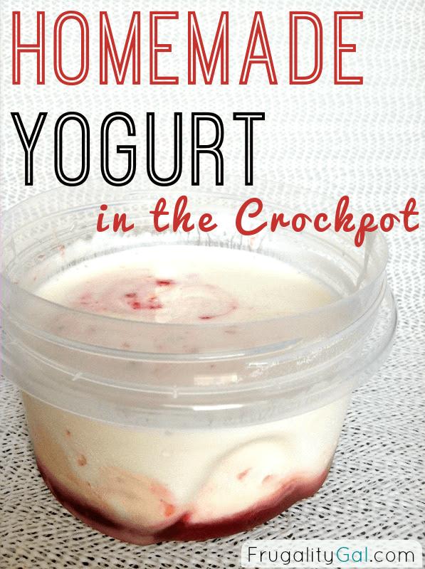 Frugal Experiment: Homemade Crockpot Yogurt