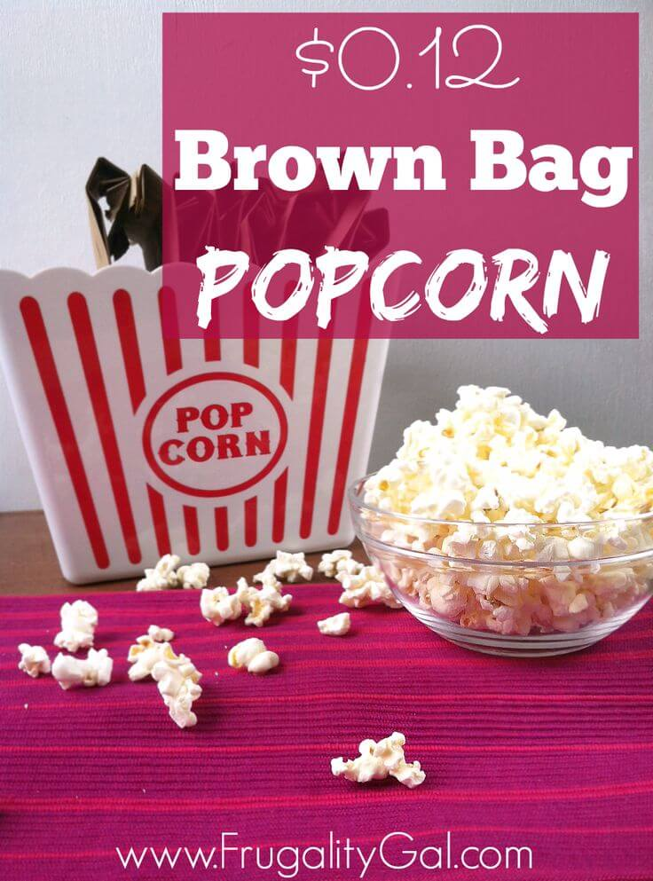 How to Make Homemade Microwave Popcorn for 12 Cents! {WW 4 Pts}