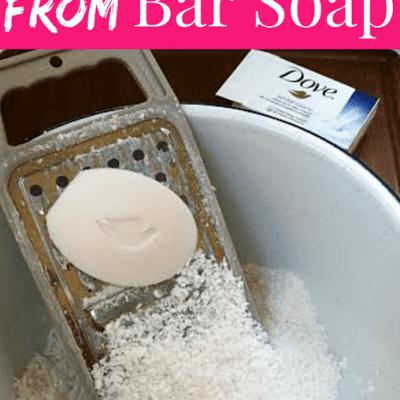 DIY Dove Body Wash from Bar Soap