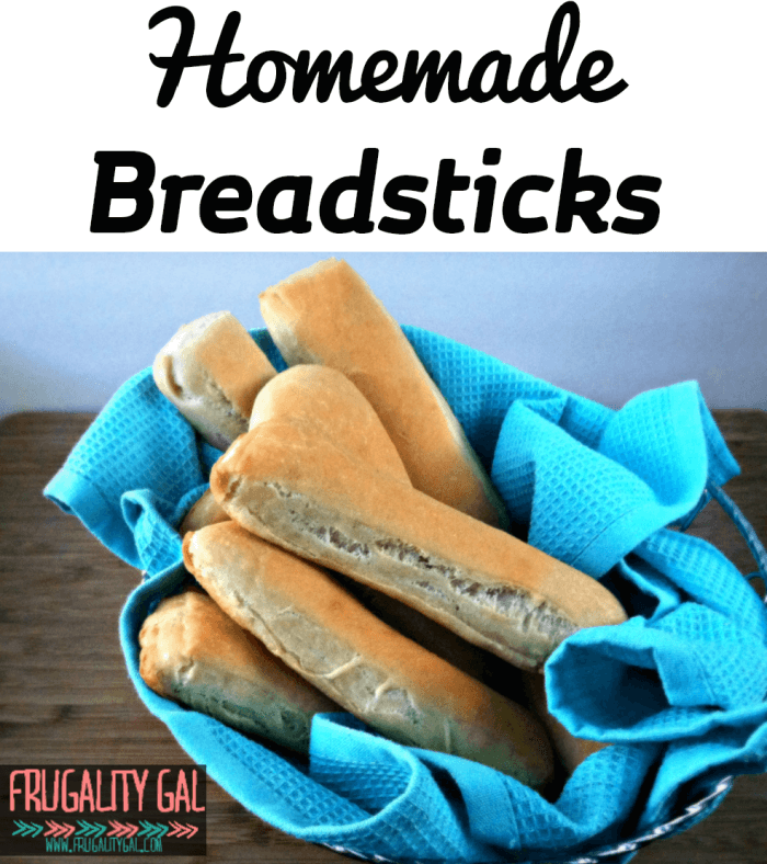 Easy Homemade Breadsticks Recipe. No mixer required! This recipe is made 100% by hand.