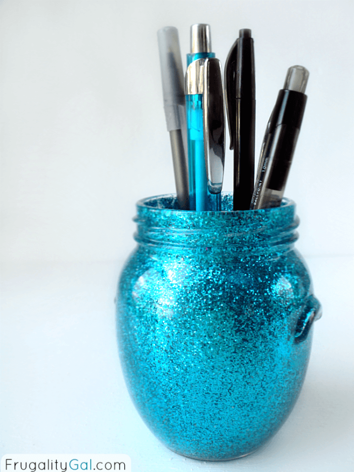 DIY Glitter Pen Holder
