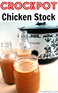 This is the easiest way ever to make homemade crockpot chicken stock. You'll never go back to store-bought! #crockpot