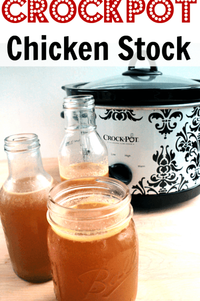 Homemade Crockpot Chicken Stock