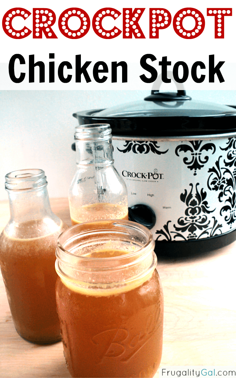 How to Make Homemade Crockpot Chicken Stock