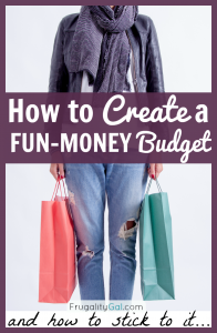 Budget Tip: If little splurges are derailing your frugal living goals, setting up a fun money budget can be just what you need to get your budget back on track. Here's how to set up – and stick to – a fun-money budget.