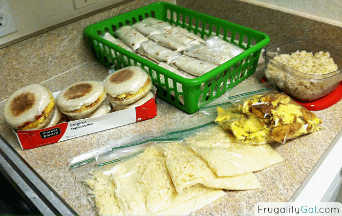 Frugal Living Secret: Weekly Meal Prepping. Doing a weekly meal prep helps me save money and time in the kitchen.