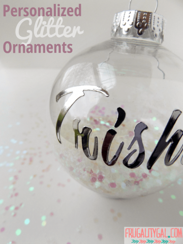 Make your own personalized DIY glitter ornaments in less than five minutes!