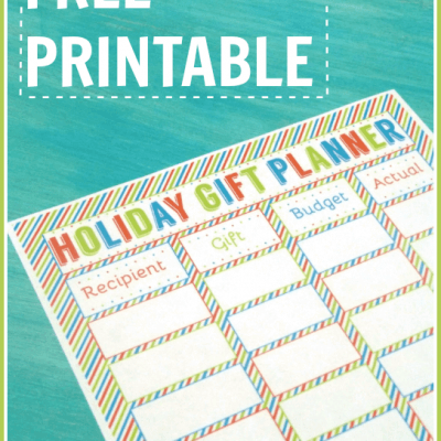 Free Printable Holiday Gift Planner