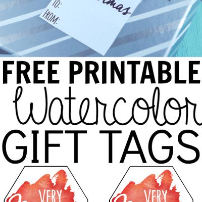 Free Printable Watercolor Gift Tags
