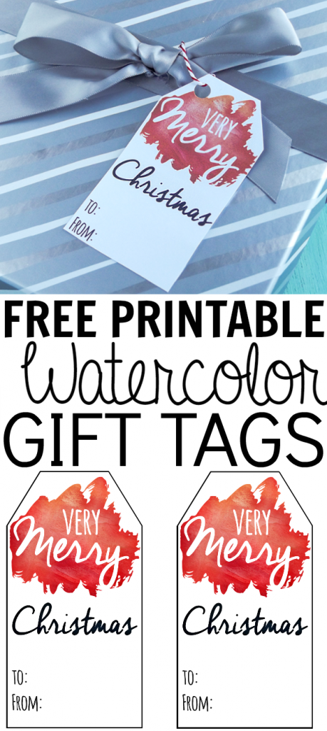 Free printable watercolor gift tags.