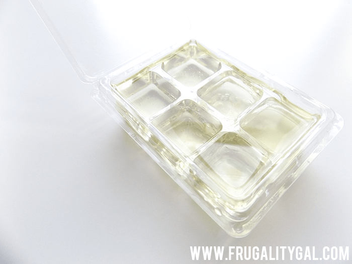 "Frugal Experiment: Homemade ""wax"" melts using only two ingredients – essential oil and coconut oil."