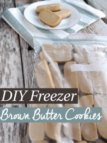 Freezer Cooking : Freezer Butter Cookies Recipe. Make and freeze cookie dough in advanced. Pop a few out of the freezer and bake when a sweet tooth strikes. Fresh baked cookies each time without all the work!