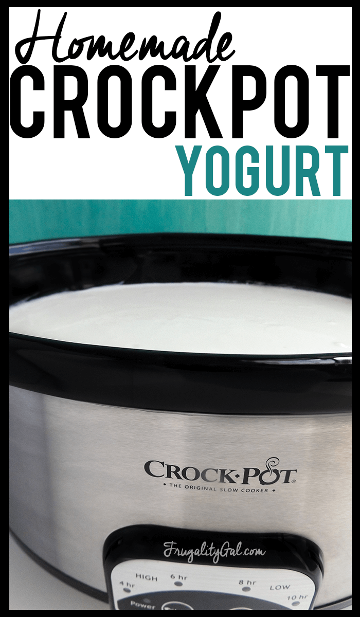 Easy crockpot recipe : Homemade yogurt in the crockpot. An easy, hands-off method for making creamy yogurt.