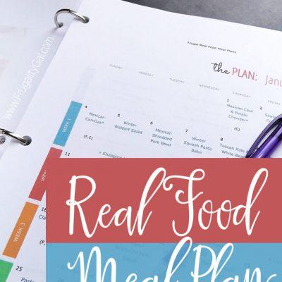 Frugal Real Food Meal Plan