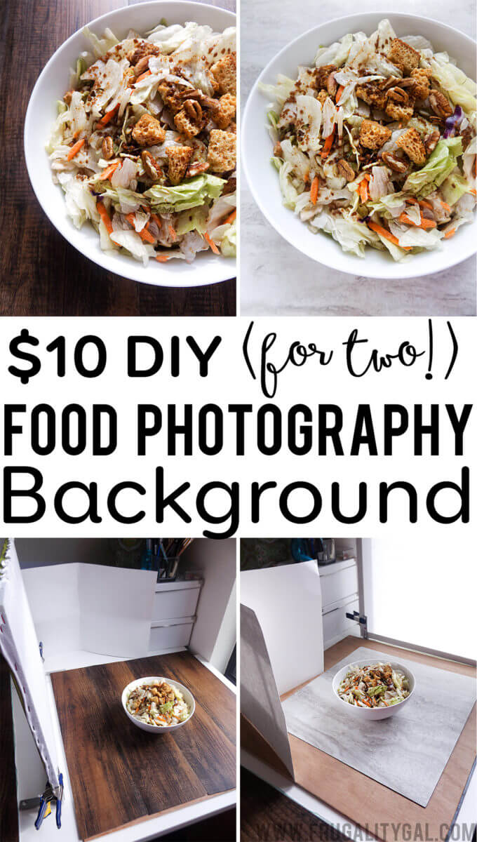 Blogging Tips: $10 DIY Food Photography Backgrounds. Make two food photography backgrounds for just $10. No special tools required!