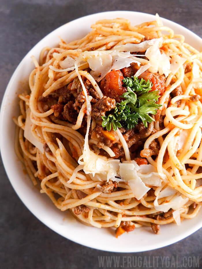 Spaghetti with Meat Sauce Recipe