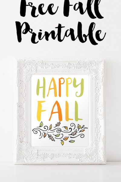 Free Printable Fall Decor. Download this free fall printable to add a bit of seasonal cheer to your walls!