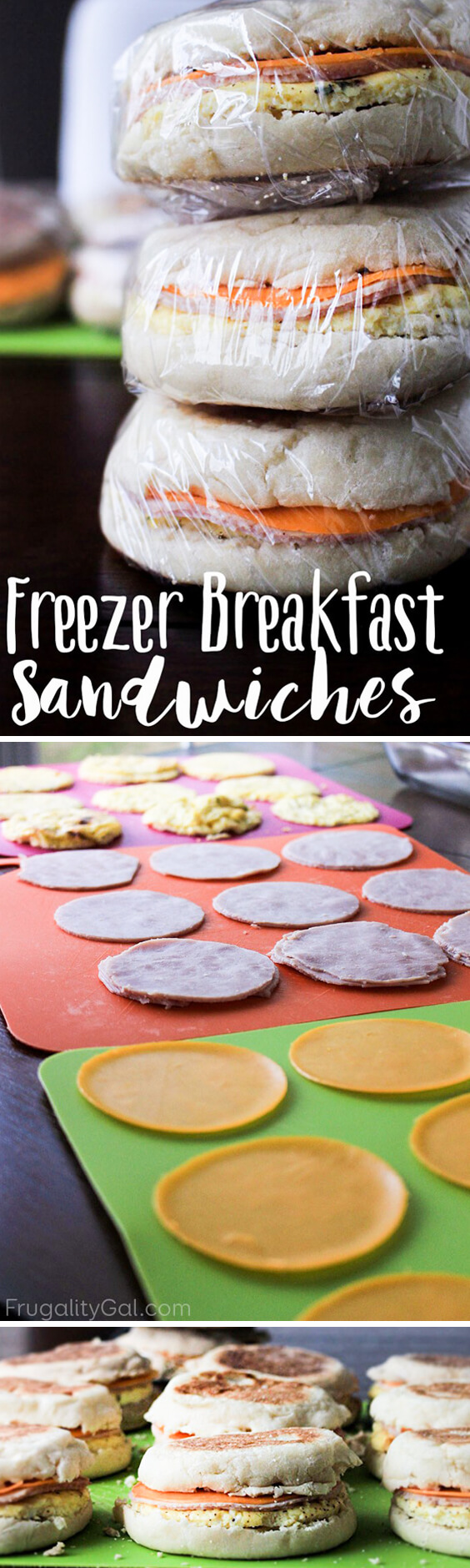Freezer Breakfast Meals - Freezer Breakfast Sandwiches - Breakfast Freezer Meals - Breakfast Freezer Sandwiches - Make Ahead Breakfast Ideas - Make Ahead Meals to Freezer - Meal Prep Breakfast Ideas Freezer