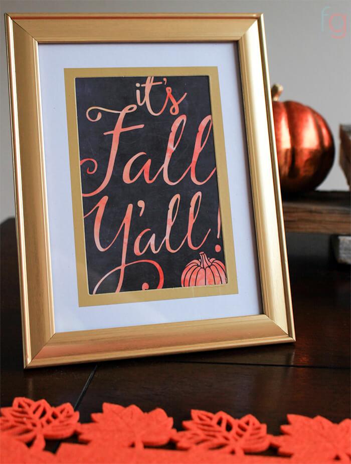 It's Fall Y'all Printable Free - Free Fall Printable - Free Printable Fall Signs - Printables for Fall Decor Ideas
