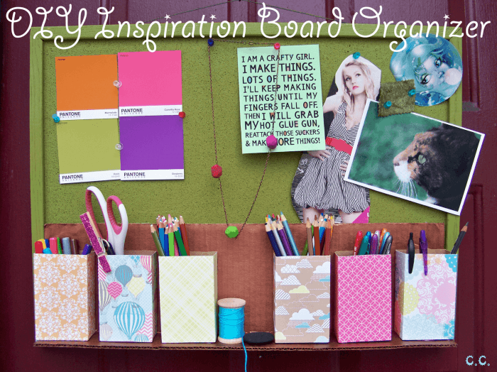 DIY Inspiration Board Organizer by the Cwafty Blog