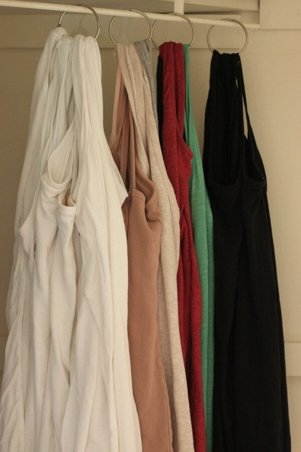 DIY Tank Top Organizer by According to Elle