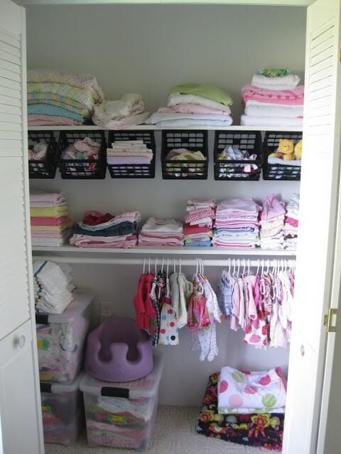 Organized Nursery Closet by Reality Daydream
