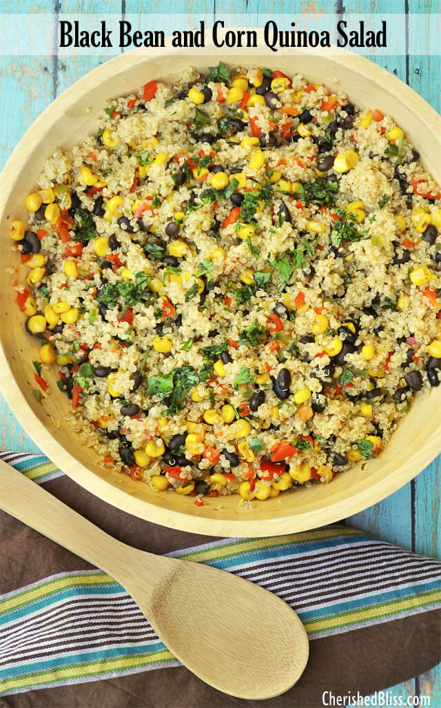 Black bean and Corn Quinoa Salad by Cherrished Bliss