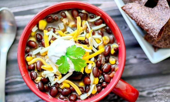 Black Bean and Salsa Soup by Momdot