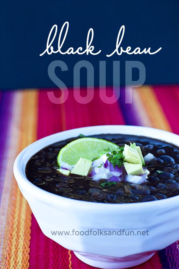 Restaurant Style Black Bean Soup by Food Folks Fun