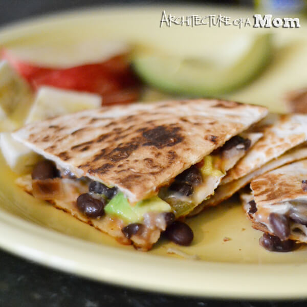 Black Bean Quesadillas by Architecture of a Mom