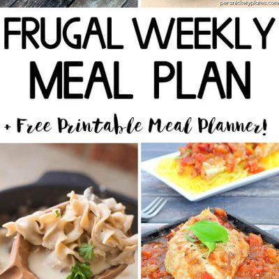 Frugal Weekly Meal Plan Wk 1.