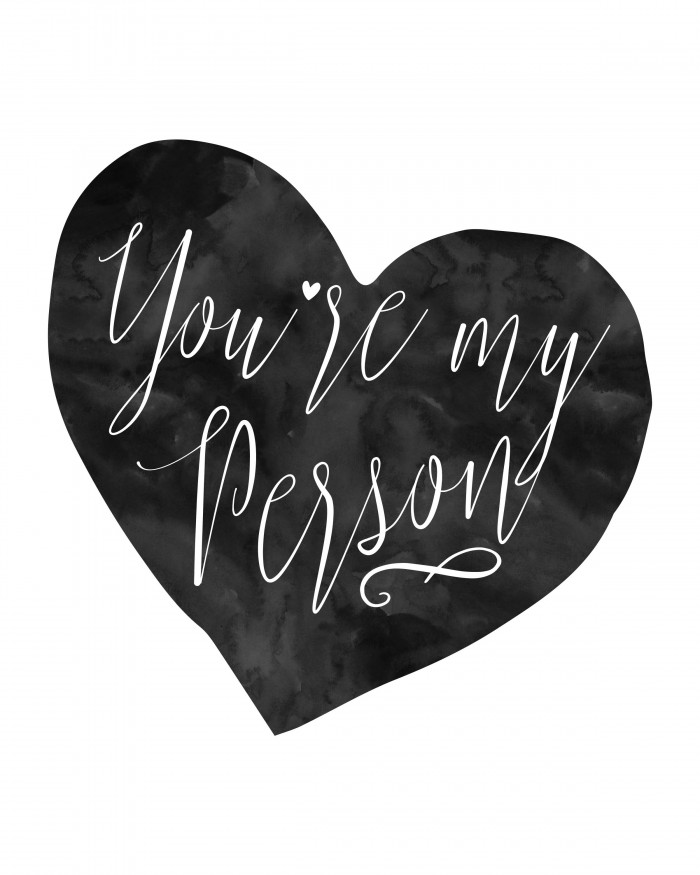 "Free Valentine Printable - Use this free printable for the home, or to gift your ""person"" as an inexpensive gift."