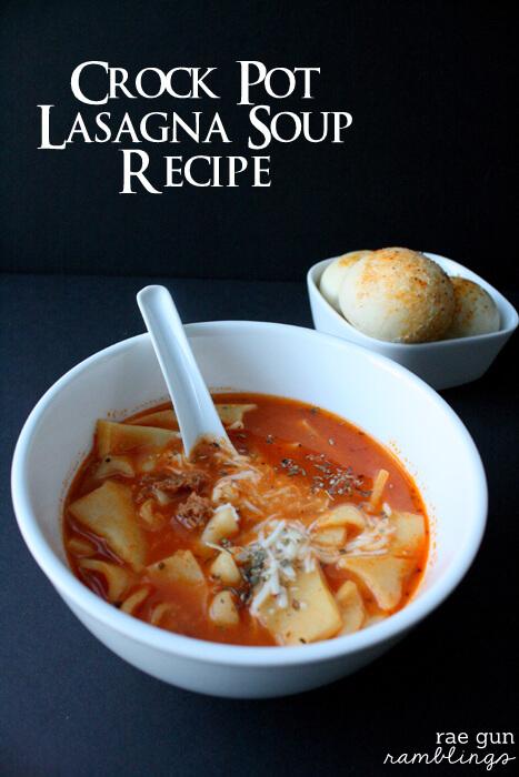 05 - Slow Cooker Lasagna Soup by Raegun Ramblings