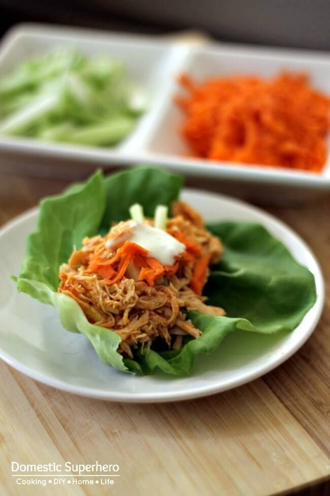 Buffalo Chicken Lettuce Wrap by Domestic Superhero